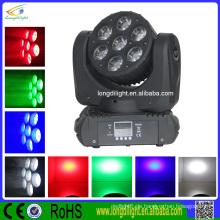 Qualität 7 * 10W führte bewegliche Hauptlicht RGBW Strahl geführtes bewegliches Hauptlicht