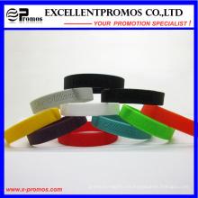 Pulsera de goma de silicona promocional personalizada (EP-W58407)