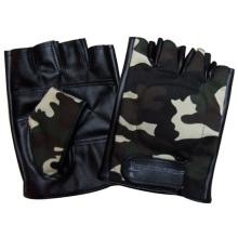 Herrenmode Fingerlose Camouflage PU Leder Driving Sport Handschuhe (YKY5023)