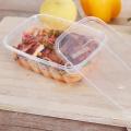 25oz PP одноразовые квадратные прозрачные пластиковые контейнеры для пищевых продуктов