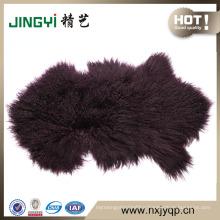 60*90cm 100% Long Hair Mongolian Lamb Fur Skin / Sheep Fur Skin
