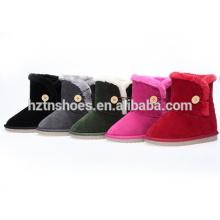 Kinder Schnee Stiefel mit Knopf warm Outdoor Kinder Stiefel