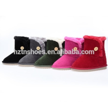 Children snow boots with button warm outdoor kids boots