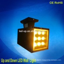 high power 9*1w rectangular LED wall light up and down led lights