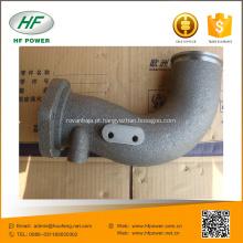 Peças de motor diesel Lovol tubo de escape de flexão