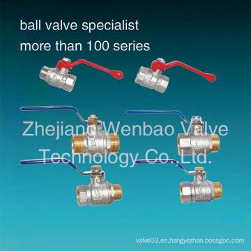Válvula de bola de latón forjado Precio 600 Wog Válvula de bola de latón Importador en Delhi