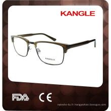 2017 nouveaux cadres optiques de combinaison en métal d'acétate de conception, lunettes de style de nouveau homme