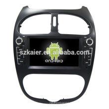Quatro núcleos! Android 6.0 carro dvd para Peugeot 206 com 6.2 polegadas tela capacitiva / GPS / espelho Link / DVR / TPMS / OBD2 / WIFI / 4G