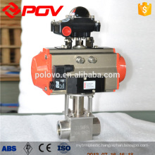 high pressure flange type ball valve