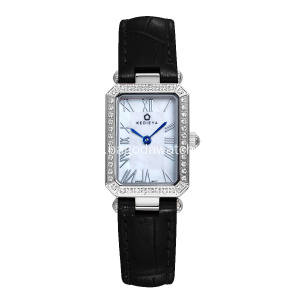 Black strap ladies quartz wrist watch
