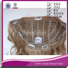 Half wig human hair,kinky hair half wig,virgin brazilian hair half wig,human hair clip in hair half wig