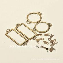 estilo retro etiquetas de estructura de metal / foto titular conjunto de scrapbooking