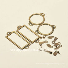 retro style metal frame tags/ photo holder scrapbooking set