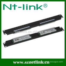 1U 19inch cat5e cat6 16 port patch panel