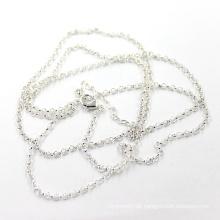 Fabrik Preis 2mm Silber Rolo Kette Halskette Länge 50 + 5 Cm