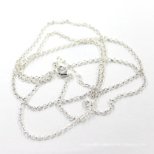 Factory Price 2mm Silver Rolo Chain Necklace Length 50+5 Cm
