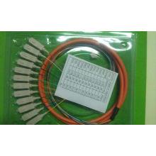 Sc 12 Cores Fanout Fibre Optique Pigtail- Type Multimode