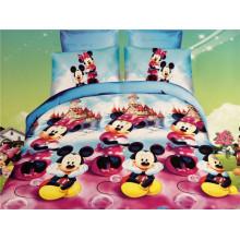 Счастливый Микки танцуют дизайны детей пододеяльник постельные комплекты пододеяльник