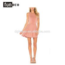 vestido de saia curta sem mangas moda elegante novo design vestido sem mangas vestido de saia curta moda elegante novo vestido de design