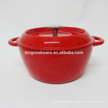 New design for red enamel coating cast iron soup wok/casserole/pot/cocotte/cookware