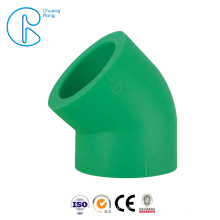 Hot Sale PPR Fitting 20 mm PPR Equal Elbow 45 Degree