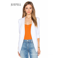 Jaqueta de mulheres de escritório de terno branco