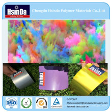 Hot Sales Epoxy Paint Yellow Purple Silver Metal Spray Powder Coating