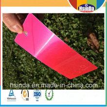 Revestimento transparente claro vermelho personalizado barato do pó de Rosa dos doces lustrosos altos baratos da fábrica