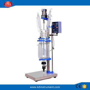 Chemical+Jacketed+Glass+Polymerization+Reactor+5L