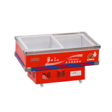 Bevel Glass Door Seafood Freezer for Supermarket