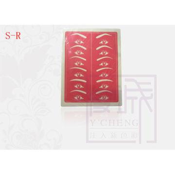 Красная косметическая татуировка Перманентный макияж для бровей