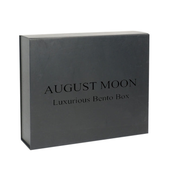 Black Magnetic Custom Gift Box Hadiah Bulk