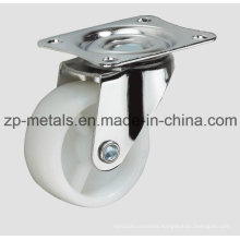 Light-Duty White PP Without Brake Caster Wheel