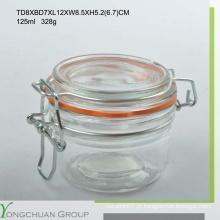 125ml / 200ml / 350ml Frasco / Jarro / Garrafa de vidro populares do vidro com vidro / tampa cerâmica para o supermercado
