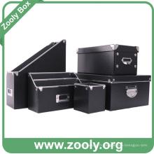 Boîte de rangement en carton de bureau / Boîte de rangement de fichiers