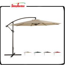 Paraguas voladizo colgante grande de la fibra de vidrio del patio compensado de 10 pies