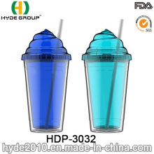 Modificado para requisitos particulares BPA libre taza helado plástico doble pared (HDP-3032)