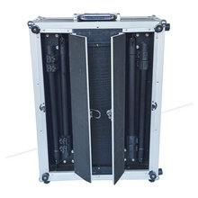 Doppel Open Make-up Case Trolley PVC