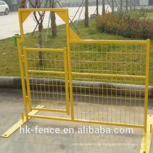 6ftx10ft PVC beschichtete vorübergehende bewegliche Industriestandort-Bau-Zaun für spezielle Fälle