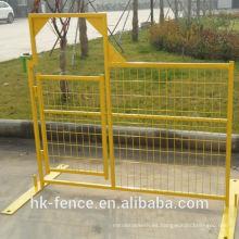 Cerca industrial portátil temporal revestida revestida de la construcción de los sitios del PVC de 6ftx10ft para los acontecimientos especiales