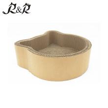 Tête de chat en forme de carton ondulé en forme de chat grattoir jouet chat maison RCS-8012