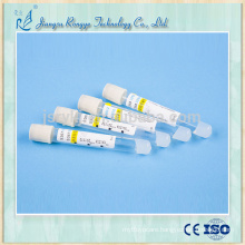 CE and ISO13485 approved yellow cap clot Activator and gel tube