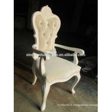 Baroque style antique furniture high back chair