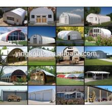 Los paneles de techo de arco de acero de color producen la máquina