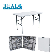 Factory supply low price small folding outdoor camping plastic steel frame table