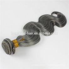 Vente en gros Smooth Shedding gratuit gris Remy cheveux humains Weave à vendre