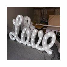 Large love marquee lights led love sign Mr Mrs wedding vintage bulb letter sign free standing letters wholesale