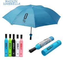 Porta Presente Paraguas Personalizados Design Bonito Impresso Sua Própria Propaganda Da Empresa Logotipo Personalizar Garrafa Umbrella