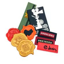Wholesale Cheap Custom Fashion Embossed 3D Logo Badge Rubber PVC Patch