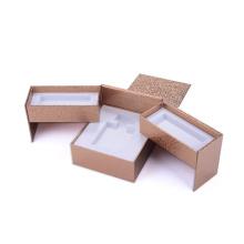 Caja de regalo de perfume de estampado en caliente de estilo abierto especial